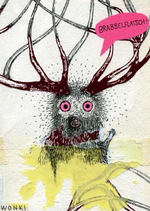 Postkarte für Kunst DIN A6 Ausstellung im Kleintheater Luzern
