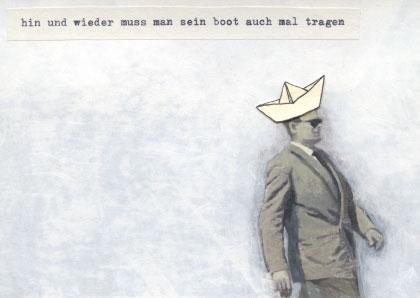 Postkarte von Mooni Sigrist für Kunst Din A6