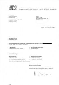 Brief von der Einwohnerkontrolle an Herr Buktu Tim 1