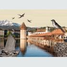 Tim Buktu Gratispostkarte 3962 Luzerner Karten Wasserturm